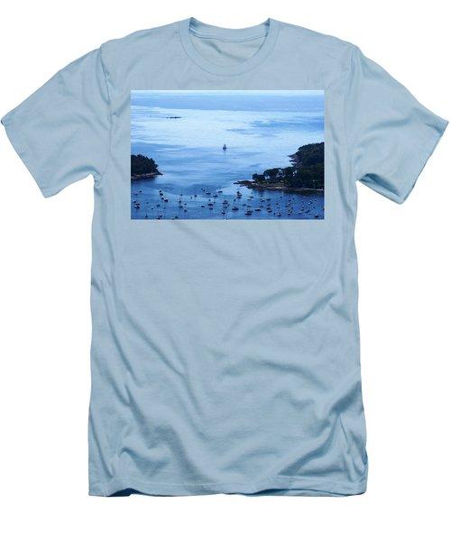 Camden Harbor Men's T-Shirt (Slim Fit) by Joe Faherty