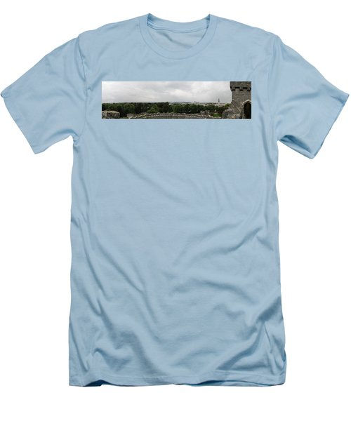 Cardiff Castle Panorama Men's T-Shirt (Athletic Fit)