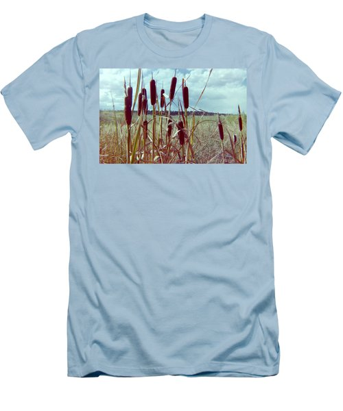 Men's T-Shirt (Slim Fit) featuring the photograph Cat Tails by Bonfire Photography