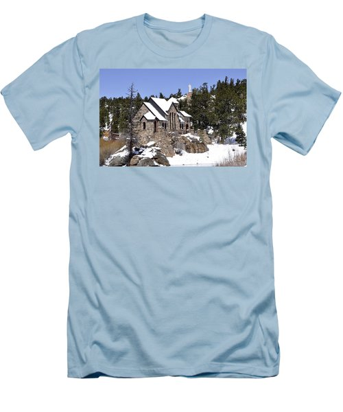 Chapel On The Rocks No. 3 Men's T-Shirt (Athletic Fit)