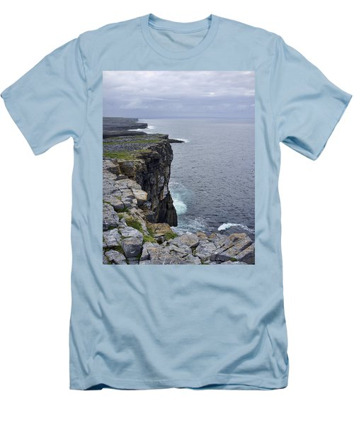 Men's T-Shirt (Slim Fit) featuring the photograph Cliffs Of Inishmore by Hugh Smith