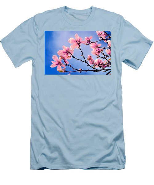 Cherry Blossums Men's T-Shirt (Athletic Fit)