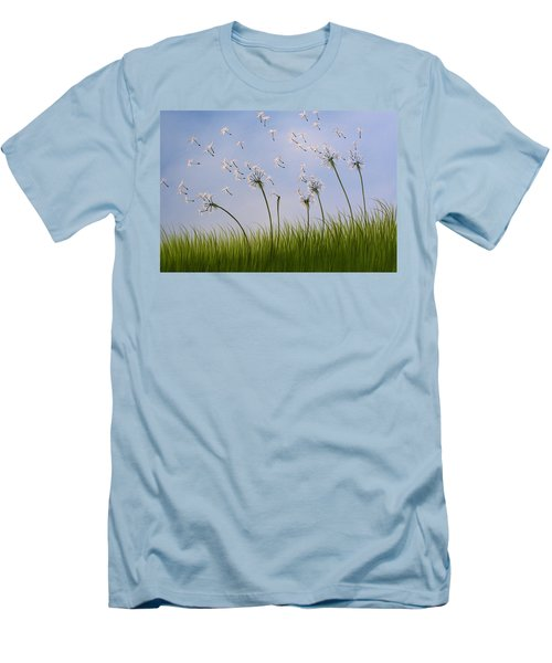 Contemporary Landscape Art Make A Wish By Amy Giacomelli Men's T-Shirt (Slim Fit) by Amy Giacomelli
