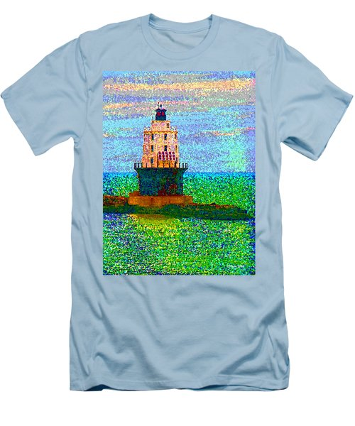 Men's T-Shirt (Slim Fit) featuring the photograph Delight House by Clara Sue Beym
