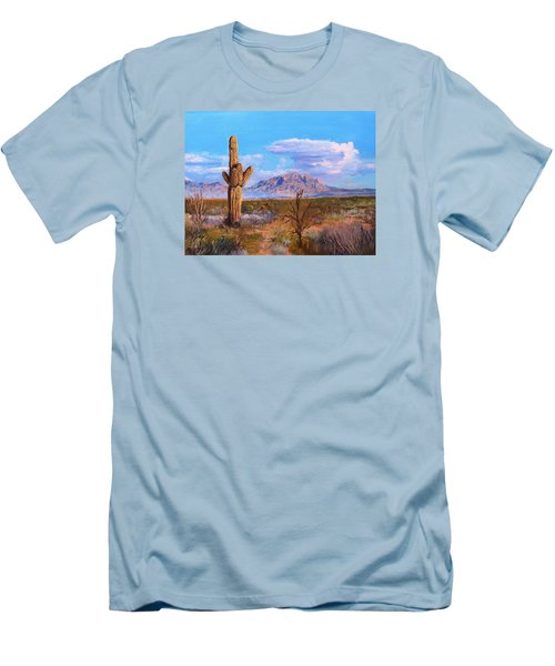 Men's T-Shirt (Slim Fit) featuring the painting Desert Scene 4 by M Diane Bonaparte