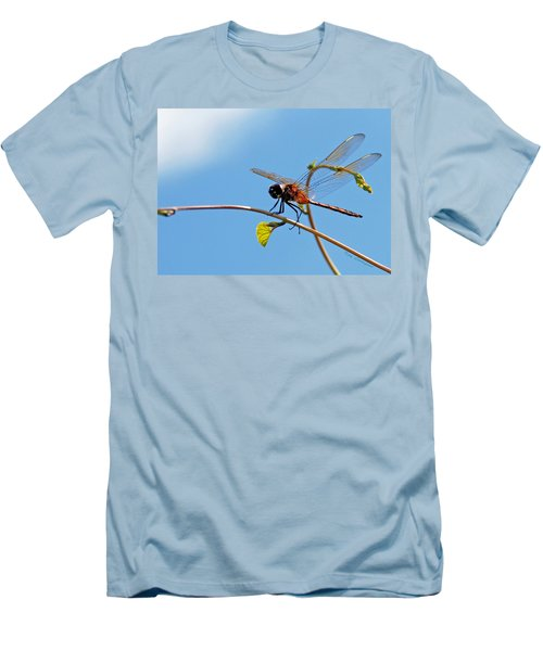 Men's T-Shirt (Slim Fit) featuring the photograph Dragonfly On A Vine by Kay Lovingood