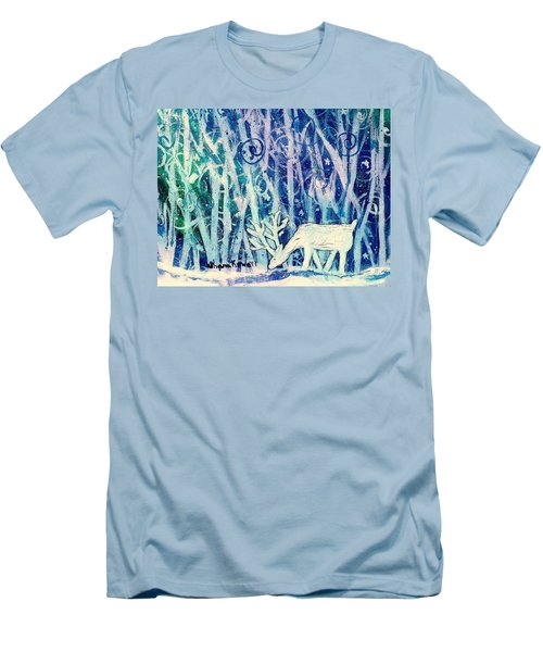 Enchanted Winter Forest Men's T-Shirt (Athletic Fit)