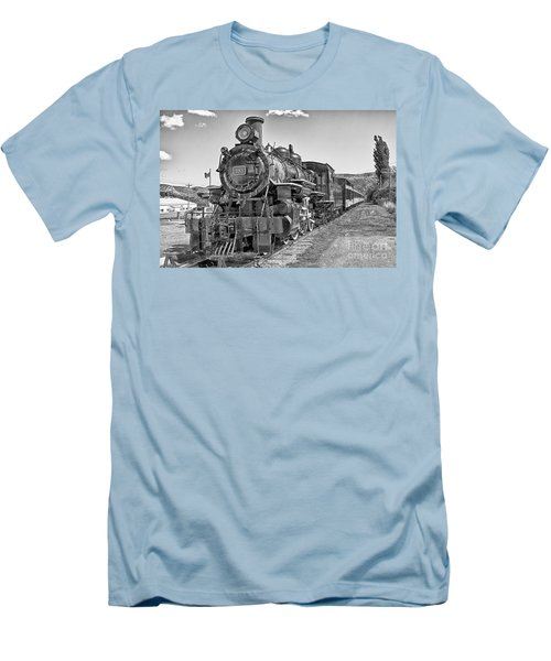 Men's T-Shirt (Slim Fit) featuring the photograph Engine 593 by Eunice Gibb