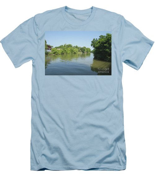 Men's T-Shirt (Slim Fit) featuring the photograph Erie Canal by William Norton