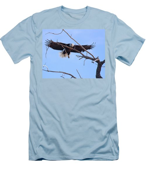 Men's T-Shirt (Slim Fit) featuring the photograph Eyes On The Prize by Jim Garrison