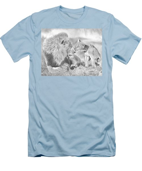 Father And Cub Men's T-Shirt (Athletic Fit)