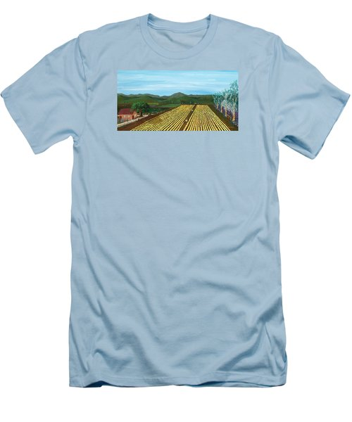 Field Of Yarrow-that's A Flower Men's T-Shirt (Slim Fit) by Katherine Young-Beck