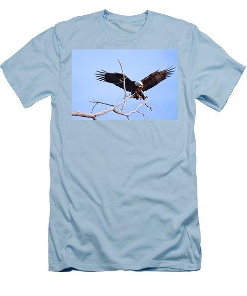 Men's T-Shirt (Slim Fit) featuring the photograph Final Approach by Jim Garrison