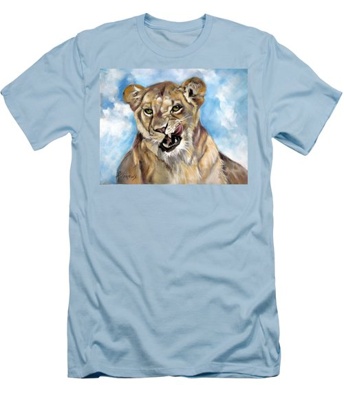 Men's T-Shirt (Slim Fit) featuring the painting Finger Lickin Good by Rae Andrews