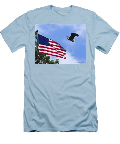 Men's T-Shirt (Slim Fit) featuring the photograph Freedom Feeds The Family by Randall Branham