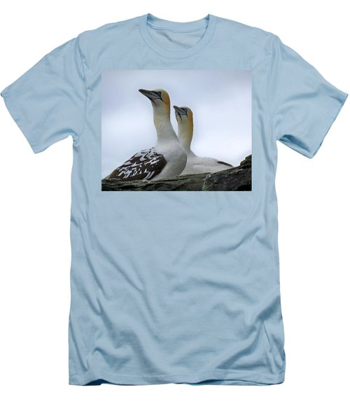 Men's T-Shirt (Slim Fit) featuring the photograph Gannets by Lynn Bolt