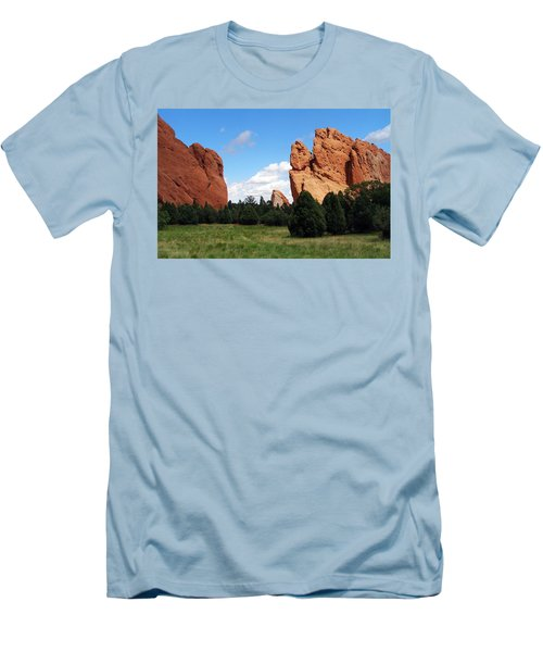 Men's T-Shirt (Slim Fit) featuring the photograph Garden Of The Gods by David Pantuso