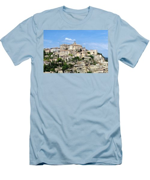 Gordes In Provence Men's T-Shirt (Slim Fit) by Carla Parris