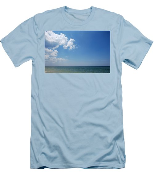 Men's T-Shirt (Slim Fit) featuring the photograph Gulf Sky by Kay Lovingood