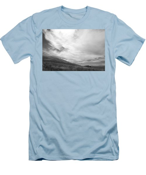 Men's T-Shirt (Slim Fit) featuring the photograph Hillside Meets Sky by Kathleen Grace