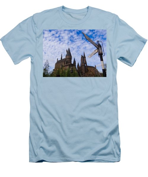 Hogwarts Castle Men's T-Shirt (Slim Fit) by Julia Wilcox