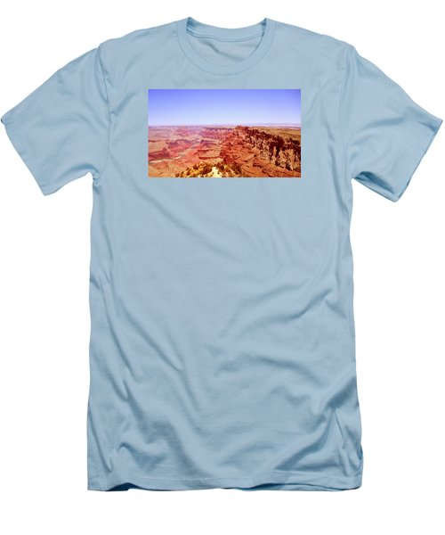 Men's T-Shirt (Slim Fit) featuring the photograph horizon in Grand Canyon by Rima Biswas