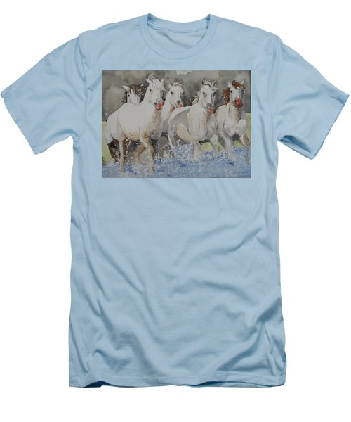 Horses Thru Water Men's T-Shirt (Athletic Fit)