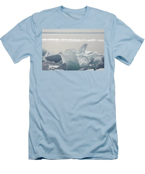 Ice Chunks On The Shores Of Lake Men's T-Shirt (Athletic Fit)