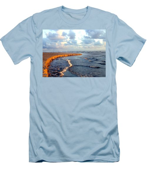Men's T-Shirt (Athletic Fit) featuring the photograph Incoming Tide At Sundown by Will Borden