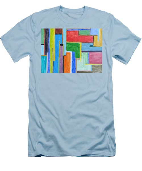 Men's T-Shirt (Slim Fit) featuring the painting Life by Sonali Gangane