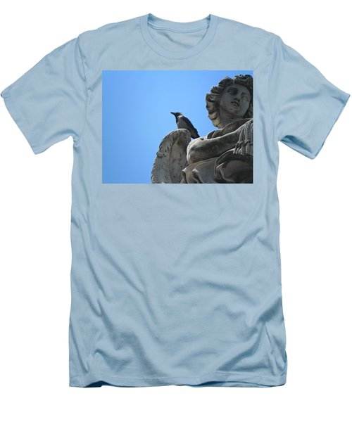 Men's T-Shirt (Slim Fit) featuring the photograph Lookout by Laurel Best