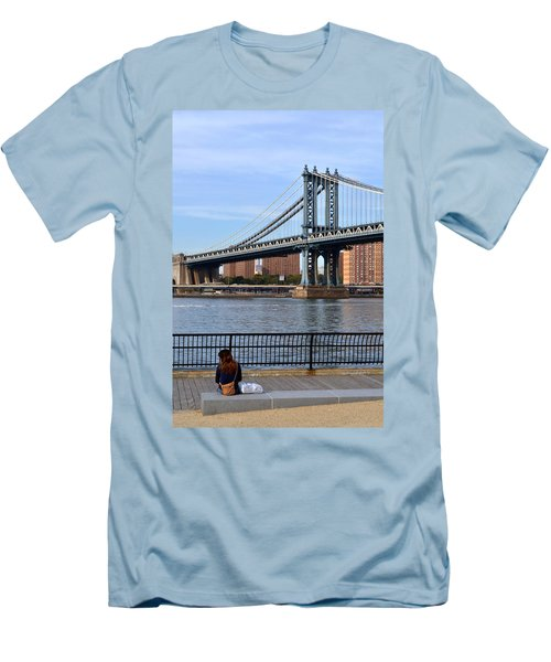 Manhattan Bridge2 Men's T-Shirt (Athletic Fit)