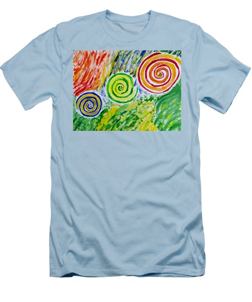 Men's T-Shirt (Slim Fit) featuring the painting Meditation by Sonali Gangane