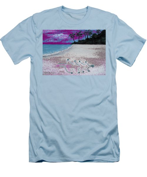 Merry Beachy Christmas Men's T-Shirt (Athletic Fit)