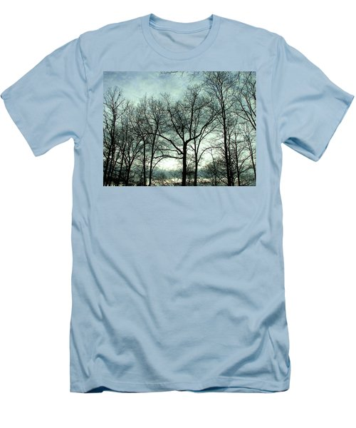 Men's T-Shirt (Slim Fit) featuring the photograph Mirage In The Clouds by Pamela Hyde Wilson