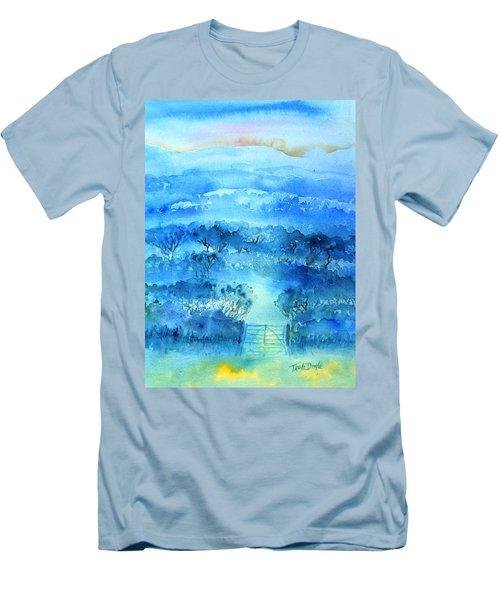 Misty Morning  Ireland  Men's T-Shirt (Slim Fit) by Trudi Doyle