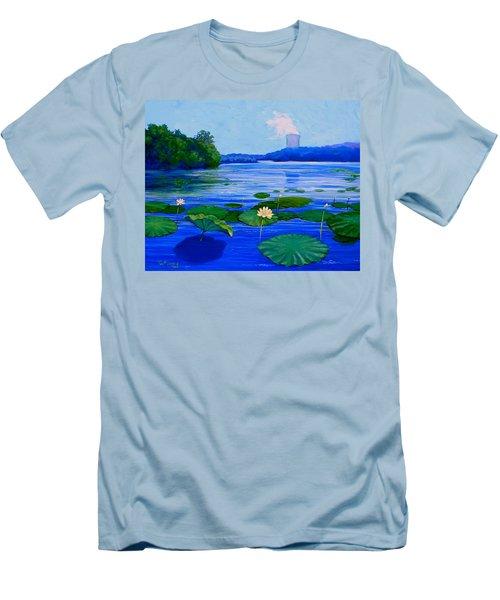 Modern Mississippi Landscape Men's T-Shirt (Slim Fit) by Jeanette Jarmon