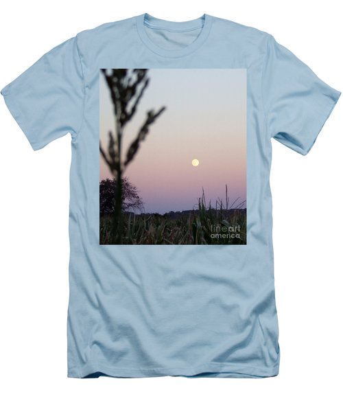 Men's T-Shirt (Slim Fit) featuring the photograph Moon by Andrea Anderegg