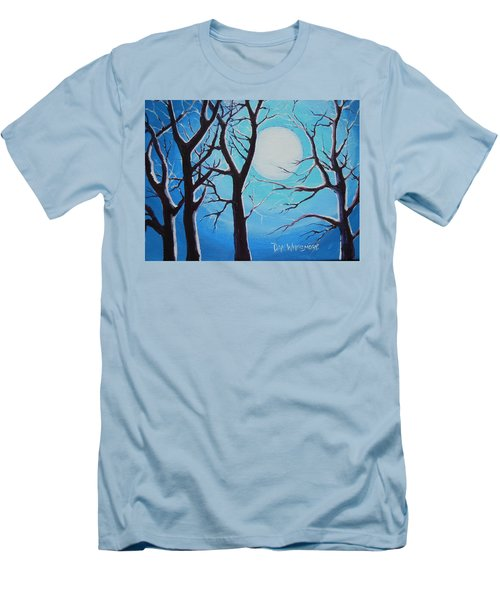 Men's T-Shirt (Slim Fit) featuring the painting Moon Light by Dan Whittemore
