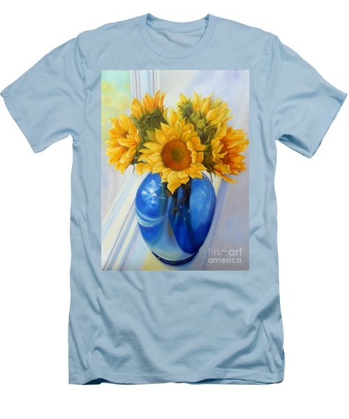 My Sunflowers Men's T-Shirt (Slim Fit) by Marlene Book