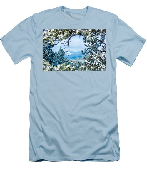 Men's T-Shirt (Slim Fit) featuring the photograph Natural Wreath by Shannon Harrington