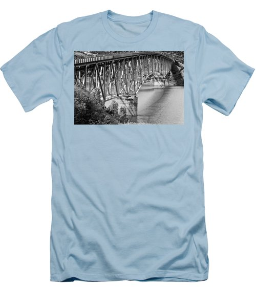 Over The River Men's T-Shirt (Slim Fit) by Colleen Coccia