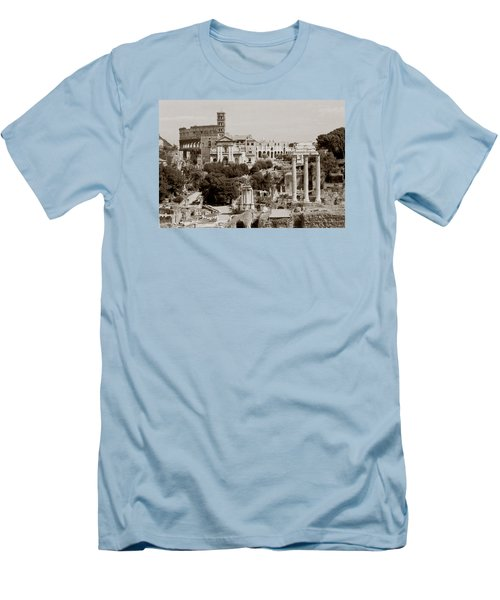 Men's T-Shirt (Slim Fit) featuring the photograph Panoramic View Via Sacra Rome by Tom Wurl