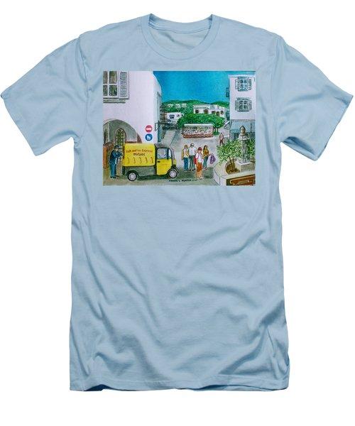 Patmos Fish Monger Men's T-Shirt (Slim Fit) by Frank Hunter