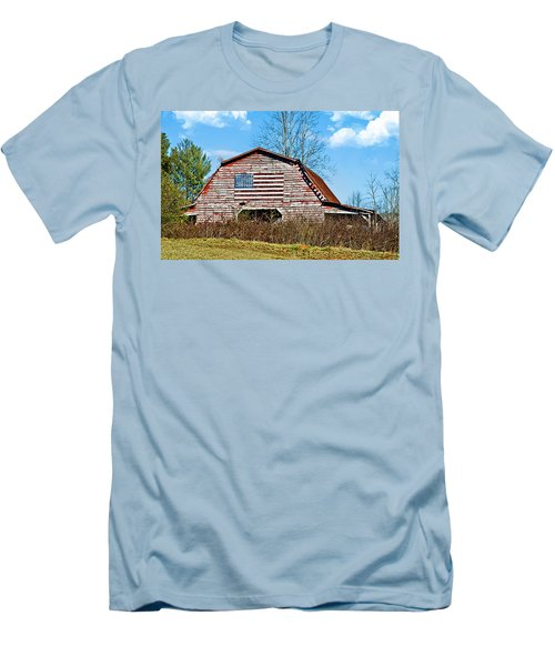 Patriotic Barn Men's T-Shirt (Athletic Fit)