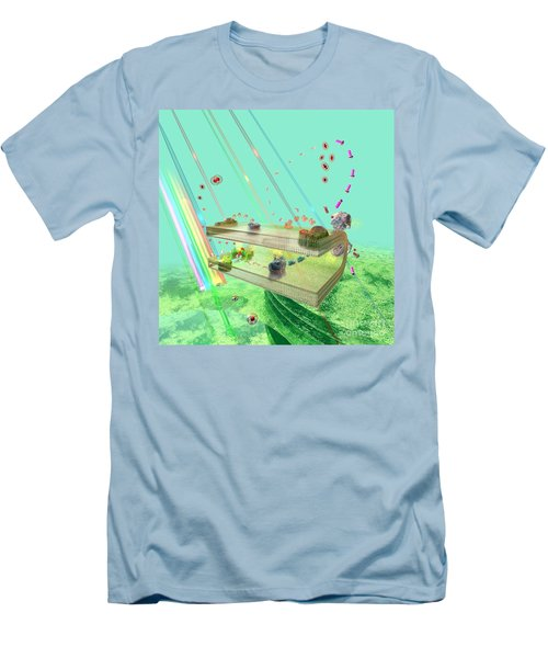 Men's T-Shirt (Slim Fit) featuring the digital art Photosynthesis by Russell Kightley