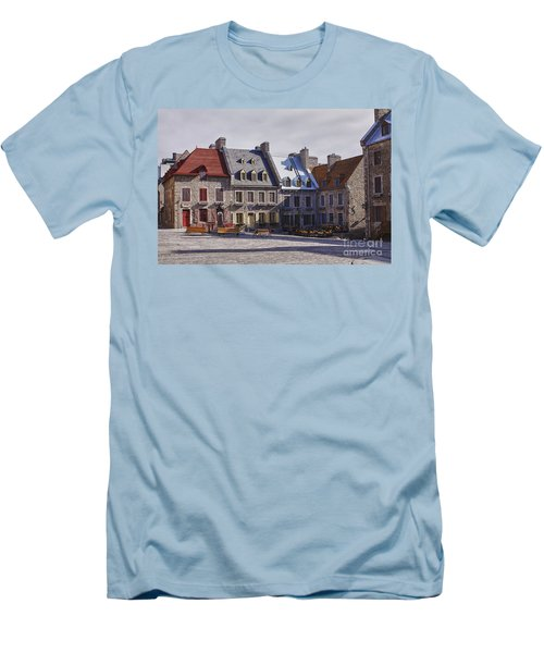 Men's T-Shirt (Slim Fit) featuring the photograph Place Royale by Eunice Gibb