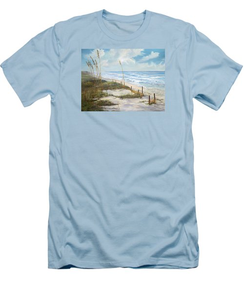 Men's T-Shirt (Slim Fit) featuring the painting Playalinda by AnnaJo Vahle