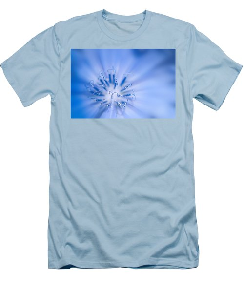 Men's T-Shirt (Slim Fit) featuring the photograph Pollination  Blue Chicory by Randall Branham