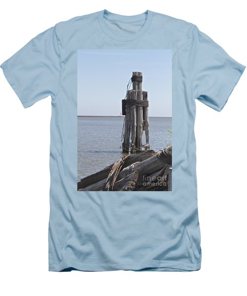 Men's T-Shirt (Slim Fit) featuring the photograph Port Of Rochester by William Norton